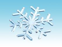 Winter snowflake. 3d render of crystal snowflake Royalty Free Stock Image