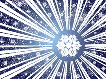 Winter snowflake background Stock Photo
