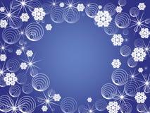 Winter snowflake background Stock Photos