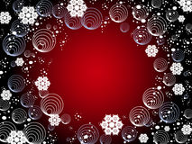 Winter snowflake background Royalty Free Stock Images