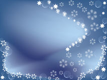 Winter snowflake background Royalty Free Stock Photos