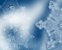 Winter snowflake background Stock Image