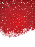 Winter Snowflake Background Stock Photography