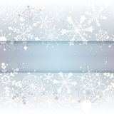 Winter Snowflake Background with Copy Space Royalty Free Stock Images
