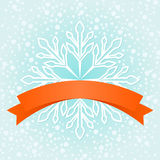 Winter snowflake banner. Royalty Free Stock Photography