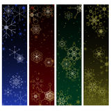Winter snowflake banners Stock Photos