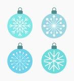 Winter snowflake baubles Stock Photo