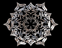 Winter snowflake on a black background Royalty Free Stock Photos