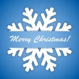 Winter Snowflake on a blue background. Stock Image