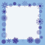 Winter snowflake border. Winter border with detailed snowflakes - additional ai and eps format available on request Stock Photo
