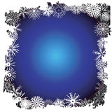 Winter snowflake border. Winter border with snowflake detail - additional ai and eps format available on request Royalty Free Stock Photos
