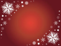 Winter snowflake border Stock Photos