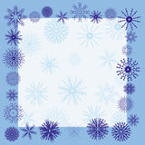 Winter snowflake border. Winter border - additional ai and eps format available on request Stock Photo