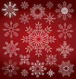 Winter snowflake collection symbol Stock Images