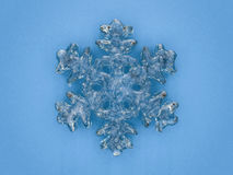 Winter snowflake on color background. 3D. Rendering Stock Images