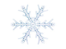 Winter snowflake on color background. 3D. Rendering Royalty Free Stock Photo