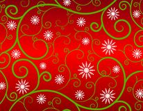 Winter Snowflake Garden Background 2 Stock Image