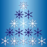 Winter snowflake gradient blue background. Stock Images