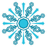 Winter Snowflake Icon Royalty Free Stock Photography