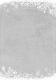 Winter snowflake retro border and grunge textured wall backgroun Royalty Free Stock Image