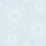 Winter snowflake seamless pattern Stock Photo