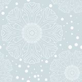 Winter snowflake seamless pattern Royalty Free Stock Photos