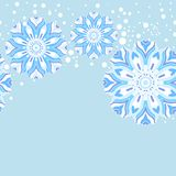 Winter snowflake seamless pattern Stock Photo