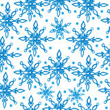 Winter snowflake seamless pattern Royalty Free Stock Images