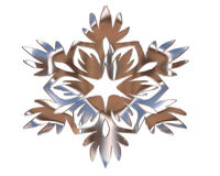 Winter snowflake silver color on a white background Stock Image