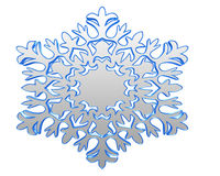 Winter snowflake silver color on a white background Royalty Free Stock Image