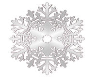 Winter snowflake silver color on a white background Royalty Free Stock Photos