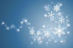 Winter snowflake swirl Royalty Free Stock Photo