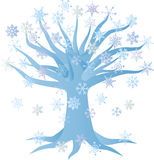 Winter Snowflake Tree Illustration Royalty Free Stock Photo
