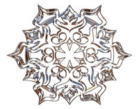 Winter snowflake on a white background Royalty Free Stock Photography