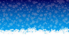 Winter snowflakes. Winter red background with snowflakes Royalty Free Stock Images