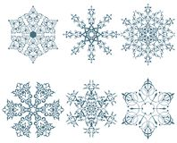 Winter snowflakes Stock Photo