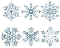 Winter snowflakes Stock Photo