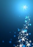 Winter Snowflakes. Swirls of snow flakes leading upwards Stock Images