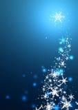 Winter Snowflakes. Swirls of snow flakes leading upwards royalty free illustration