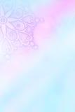 Winter snowflakes artistic background. Subtle winter snowflakes artistic background in blue and pink stock illustration