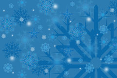Winter snowflakes on background Royalty Free Stock Photography