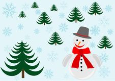 Winter snowflakes background Stock Photos
