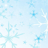 Winter Snowflakes Background Stock Image