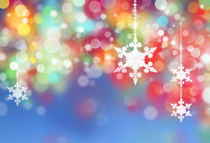 Winter snowflakes background Royalty Free Stock Photos