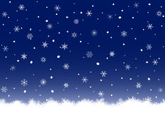 Winter snowflakes background Royalty Free Stock Photos