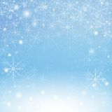 Winter snowflakes background. Illustration Stock Photography