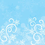Winter snowflakes background, vector
