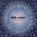 Winter snowflakes background Stock Image