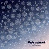 Winter snowflakes background Stock Photo