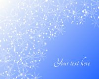 Winter snowflakes background. Vector background of winter snowflakes and snowballs Stock Photography